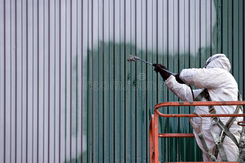 Commercial Painter stock images