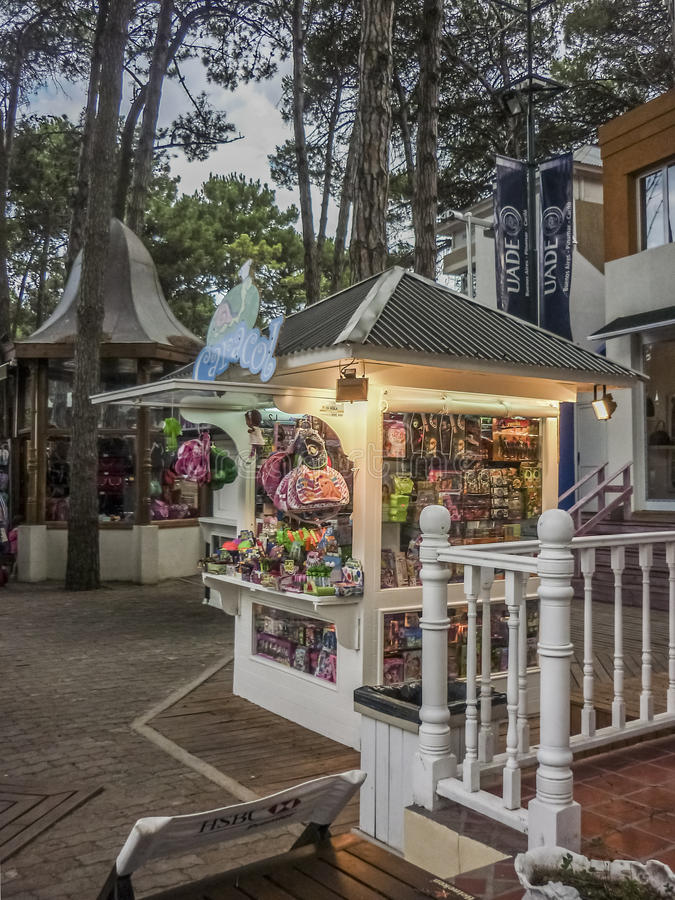 Commercial Park in Carilo Argentina royalty free stock image