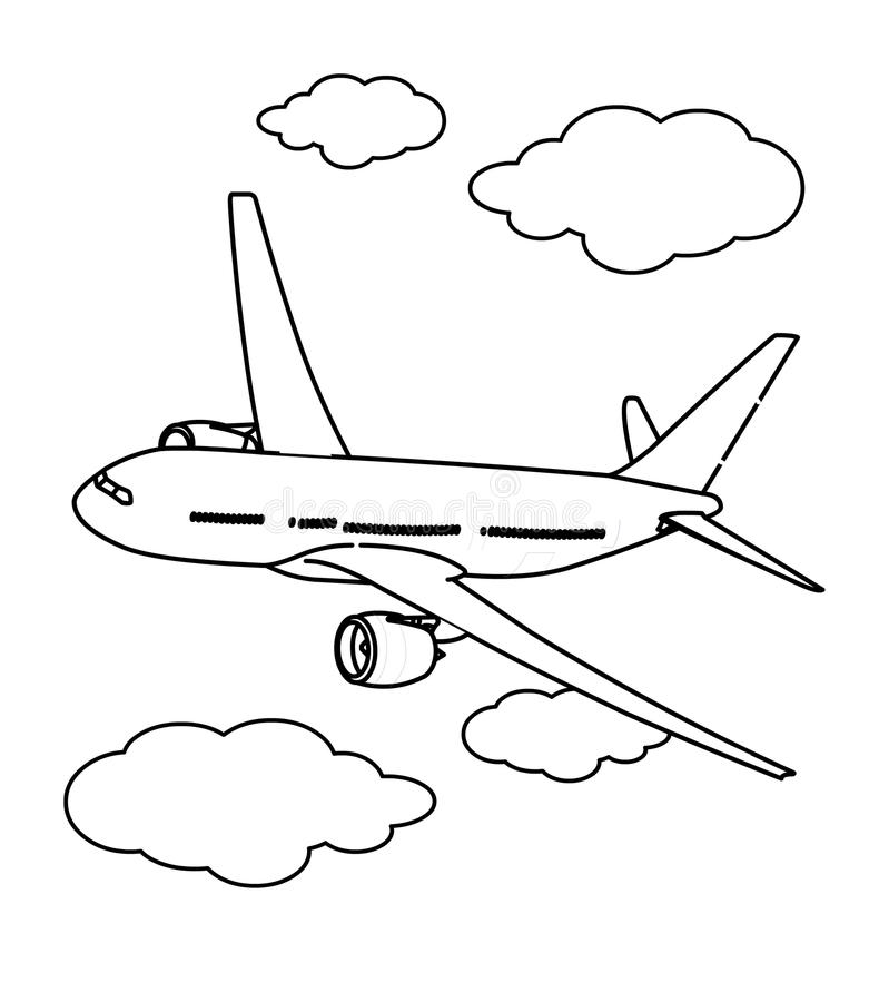 Plane #7 (Transportation) – Printable coloring pages | 900x781