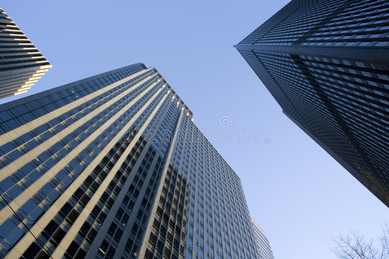 Commercial properties business buildings stock images