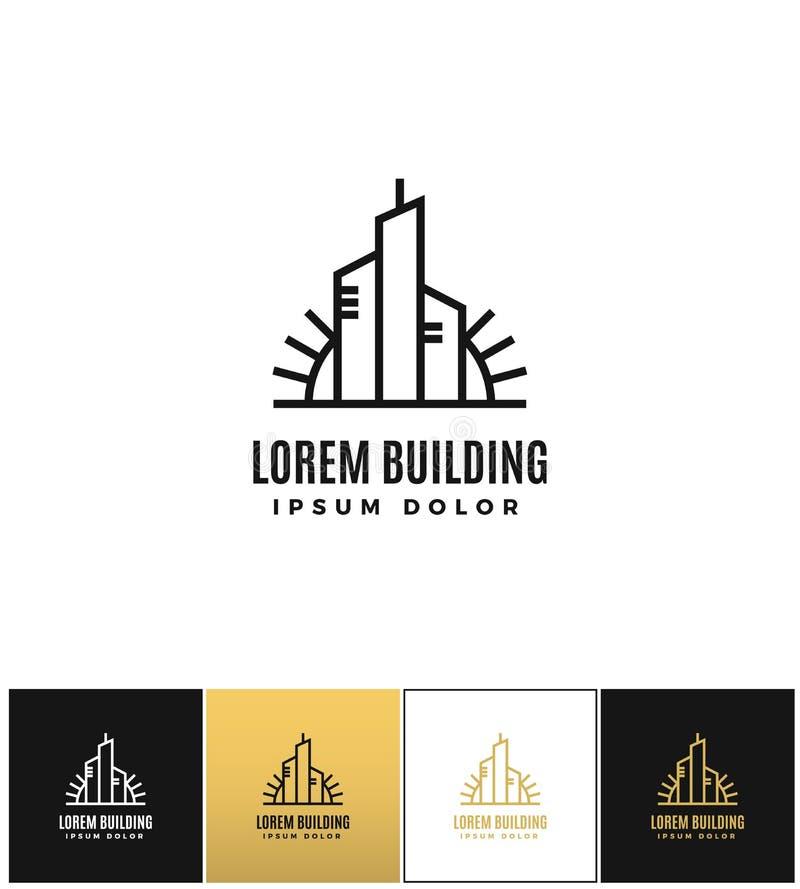 Commercial real estate logo vector icon vector illustration
