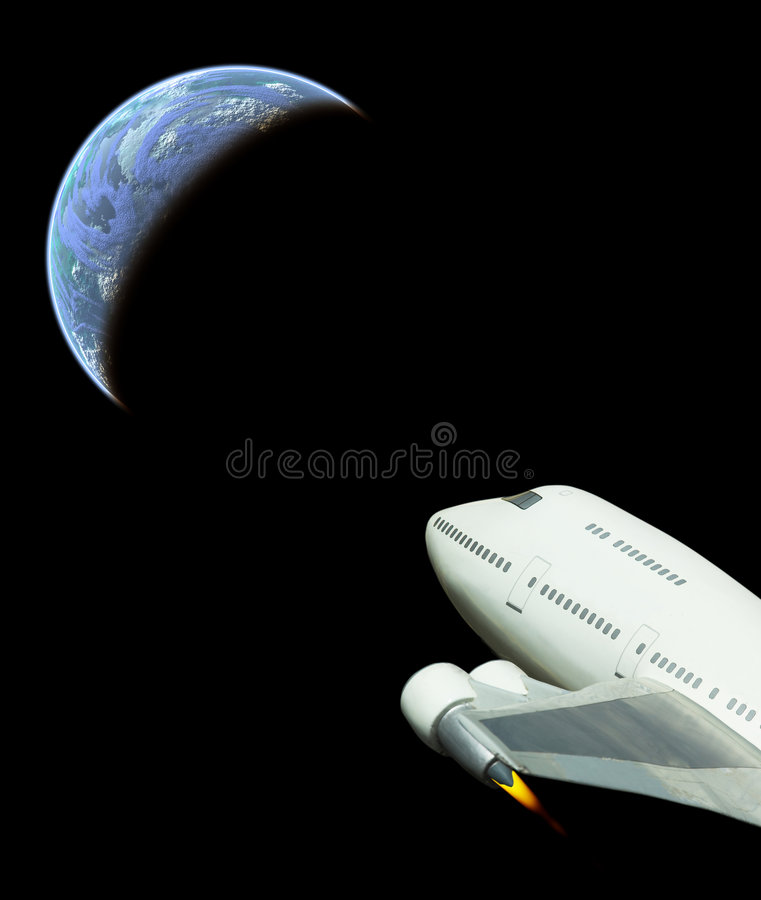 Commercial space flight royalty free stock photography