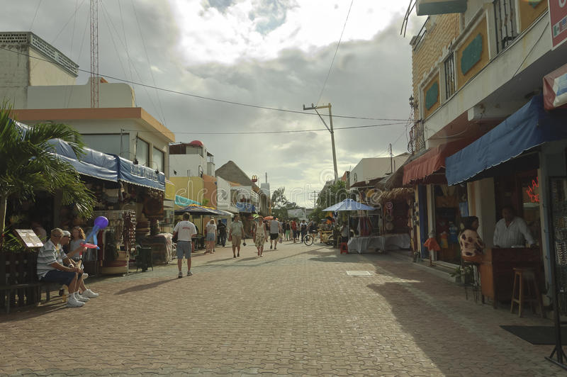 Commercial street scene royalty free stock image