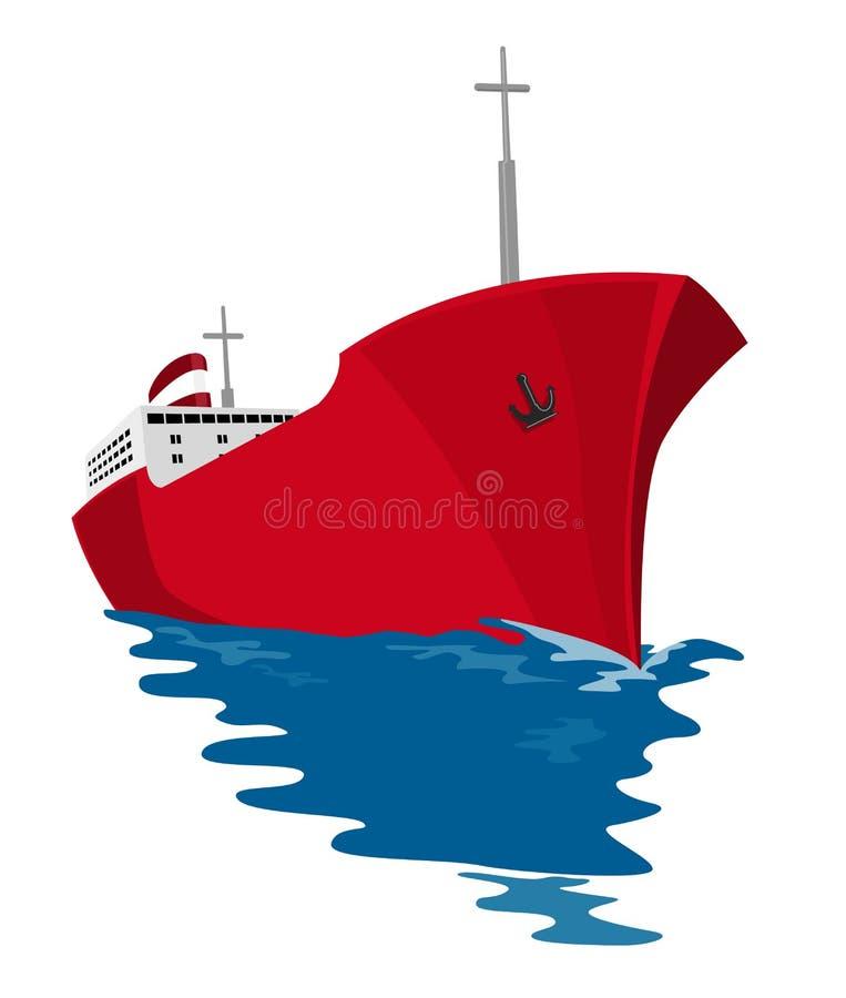 Commercial tanker vector illustration
