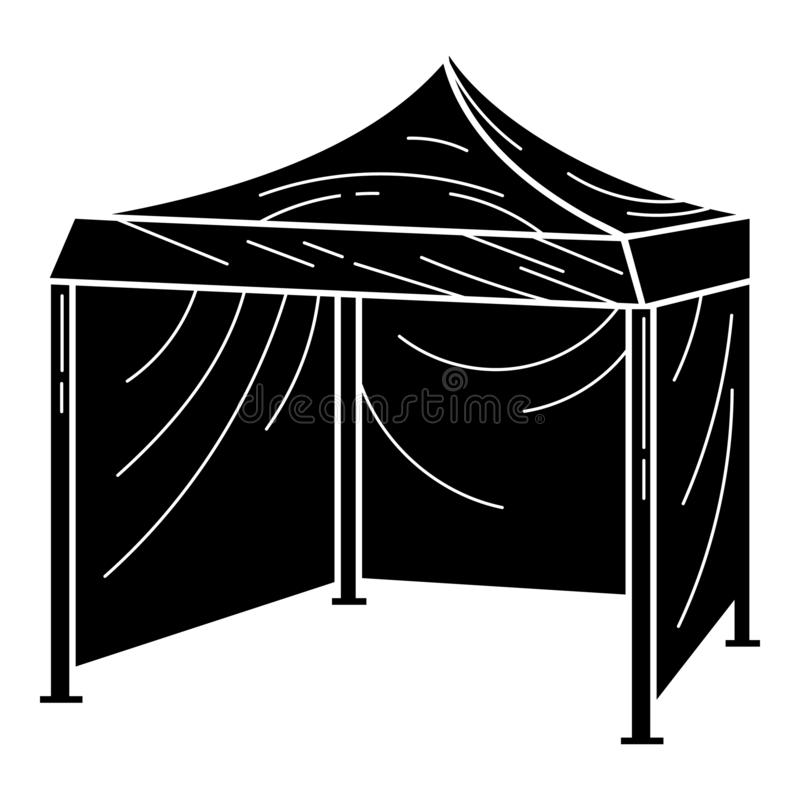Folding Tent Icon Simple Style Stock Illustration