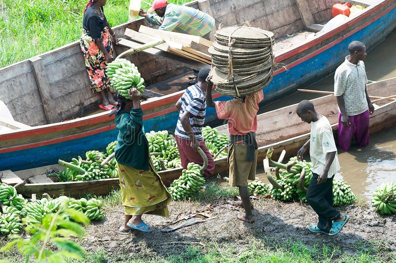 Commercial traffic along the lake Kivu