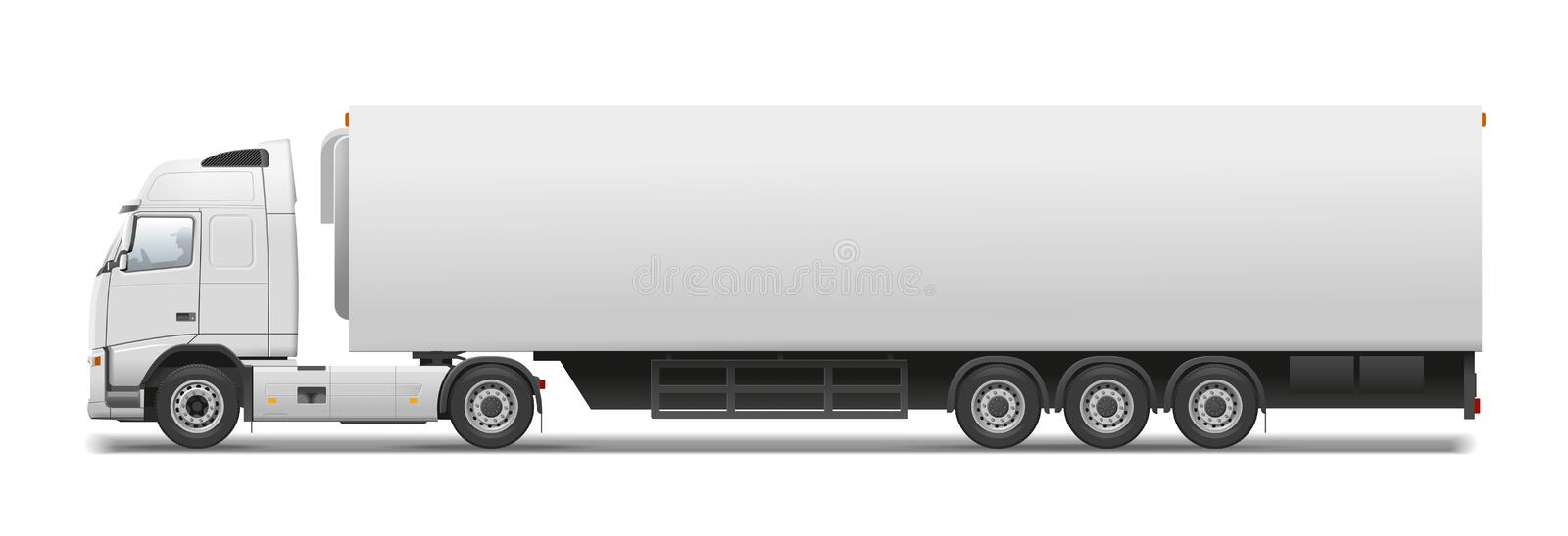 Commercial transport. Volvo truck. Vector illustration for best prints. The vector original is ready for download
