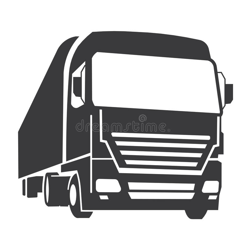 Commercial truck. Logo of a 53 length commercial truck vector illustration