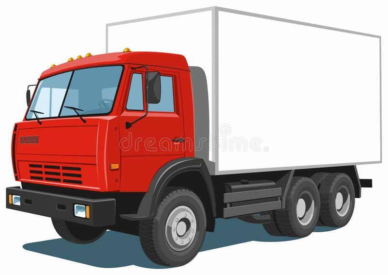 Commercial truck stock image