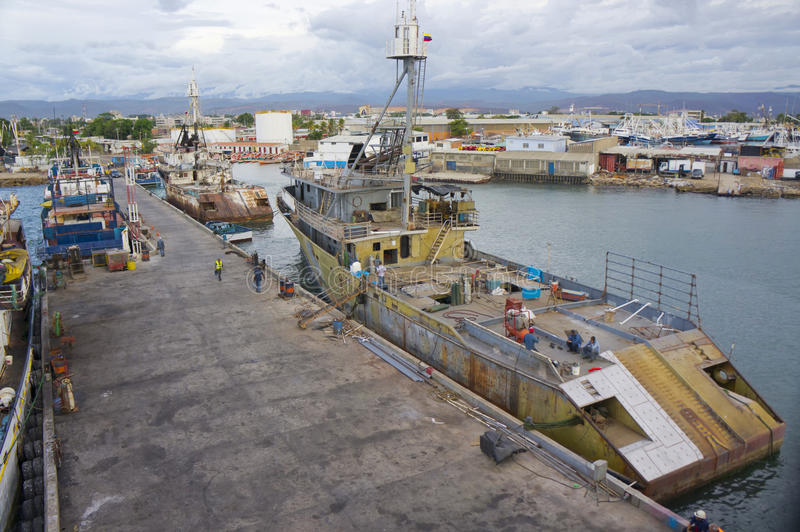 Commercial tuna fishing boat stock photo