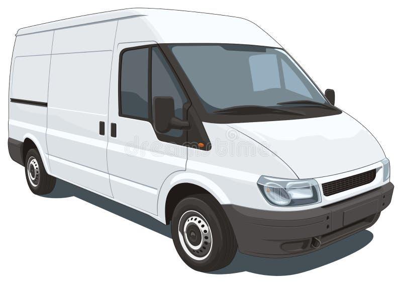 Commercial van stock images