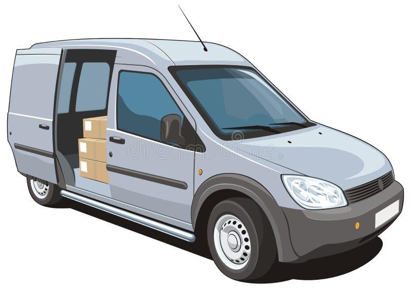 Download Commercial van stock vector. Image of commerce, logistics - 32246059