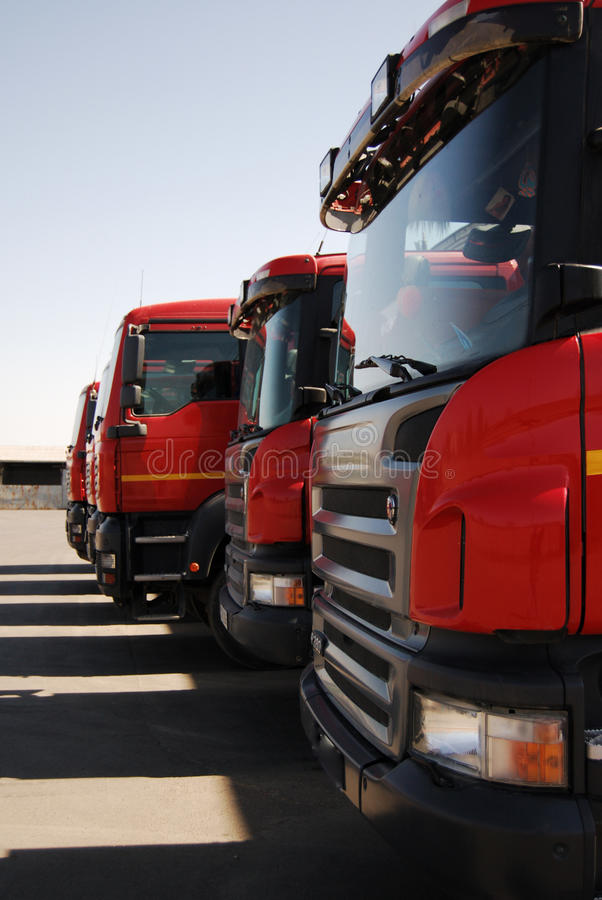Commercial vehicle stock photo