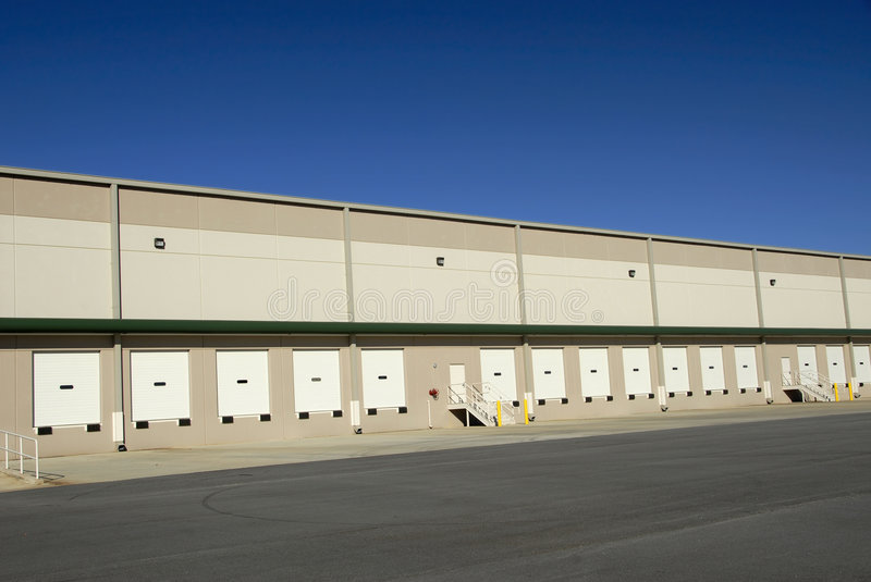 Commercial Warehouse Stock Image