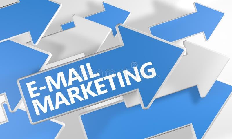 Commercialisation d'email illustration de vecteur