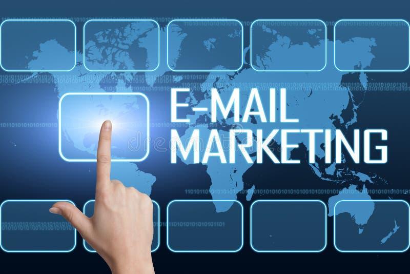 Commercialisation d'email illustration libre de droits