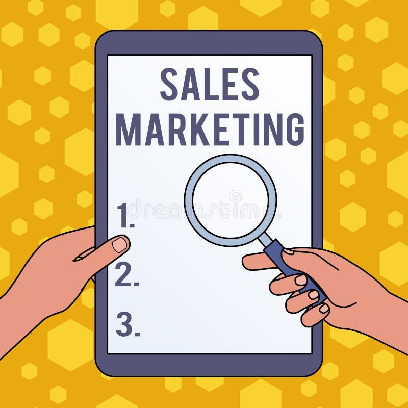 Commercialisation de ventes d'?criture des textes d'?criture Signification de concept présentant le produit ou le service afin d' illustration libre de droits