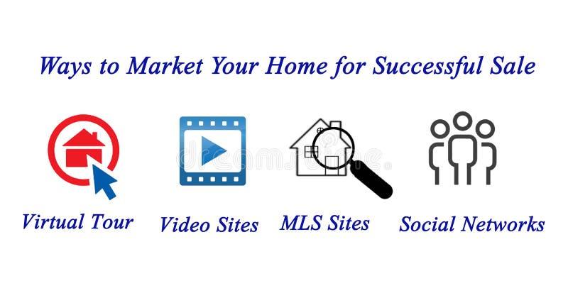 Commercialisation de votre maison illustration libre de droits