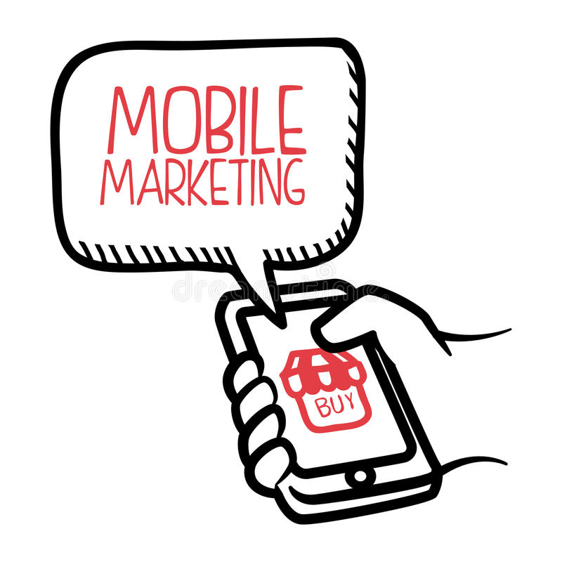 Commercialisation en ligne illustration stock
