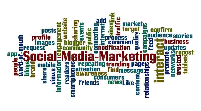 Commercializzazione sociale di media illustrazione vettoriale