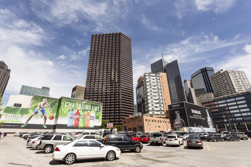 Commercials in Dallas downtown, USA royalty free stock photo