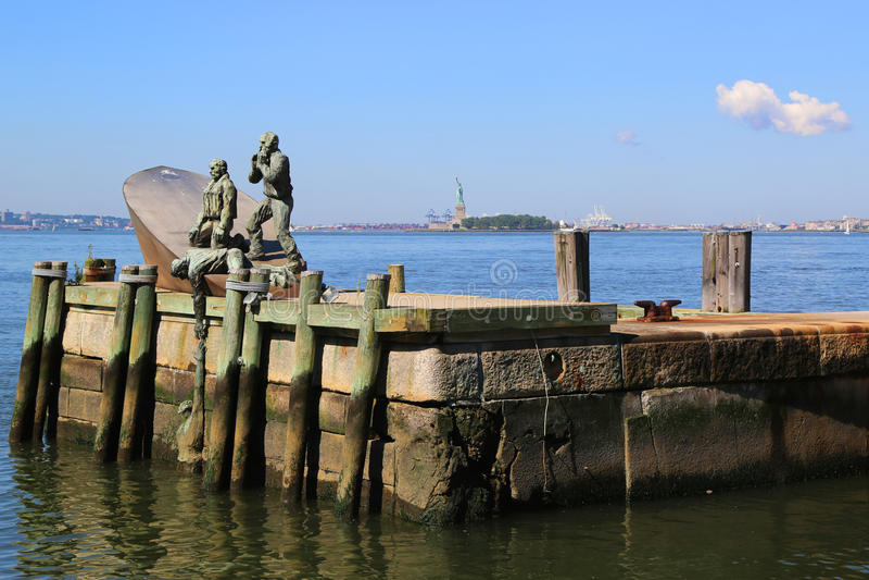 Commerciante americano Marines Memorial in Lower Manhattan immagini stock