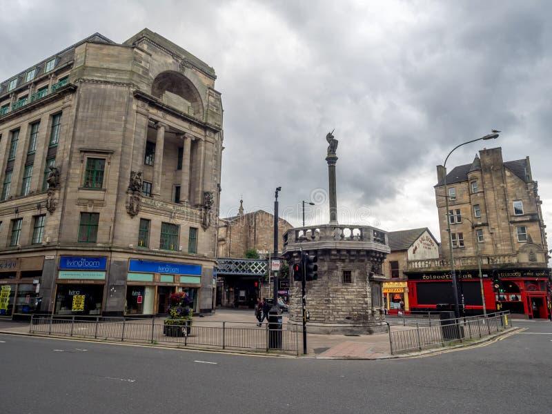 Commerciante City con il Tolbooth Steeple immagini stock libere da diritti