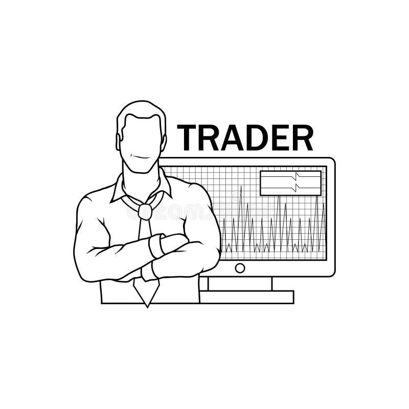 Commerciante Icon dell'illustrazione di vettore commerciante illustrazione di stock