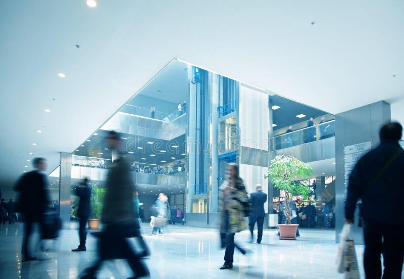 Commercieel centrum binnen stock afbeeldingen