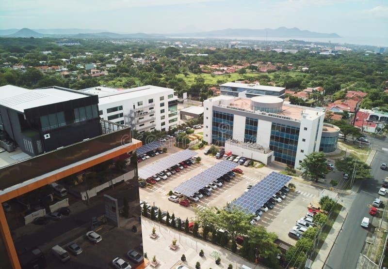 Commercieel centrum in Managua Nicaragua stock afbeelding