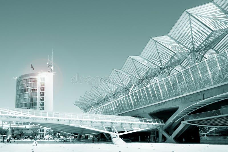 Commercieel centrum van de moderne architectuurbouw stock foto