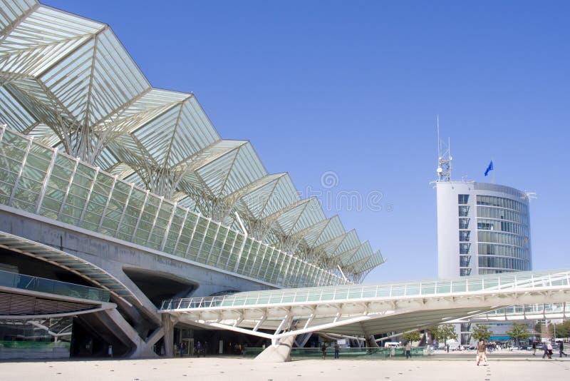 Commercieel centrum van de moderne architectuurbouw royalty-vrije stock afbeeldingen