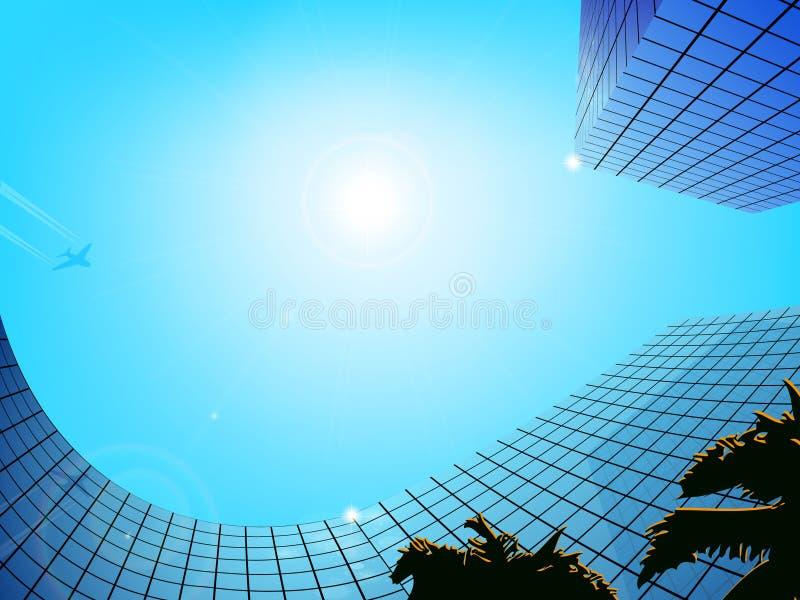 Commercieel centrum Vector illustratie royalty-vrije illustratie
