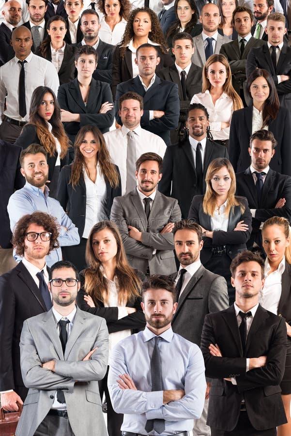 Commercieel collectief team stock afbeeldingen