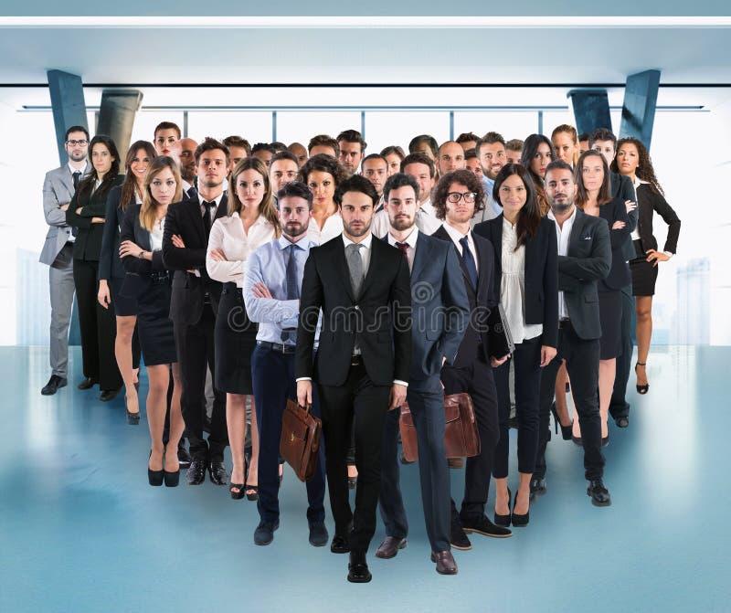 Commercieel collectief team stock foto