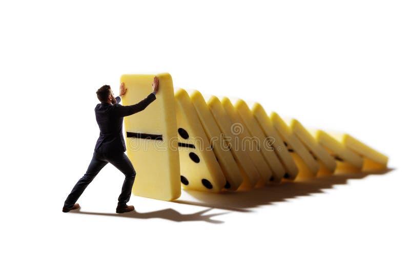 Commercieel crisisbeheer en oplossingsconcept stock foto's