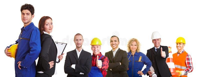Commercieel en bouwteam stock foto's
