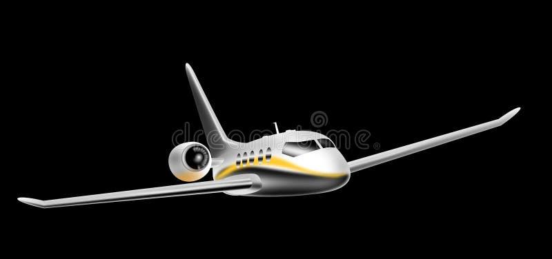 Download Commercieel lijnvliegtuig stock illustratie. Afbeelding bestaande uit privé - 9560249