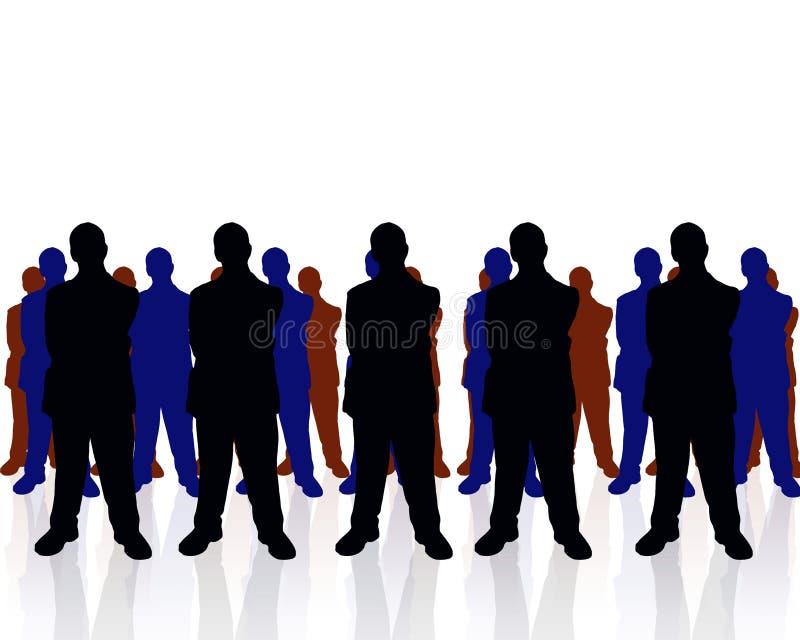 Commercieel team stock illustratie