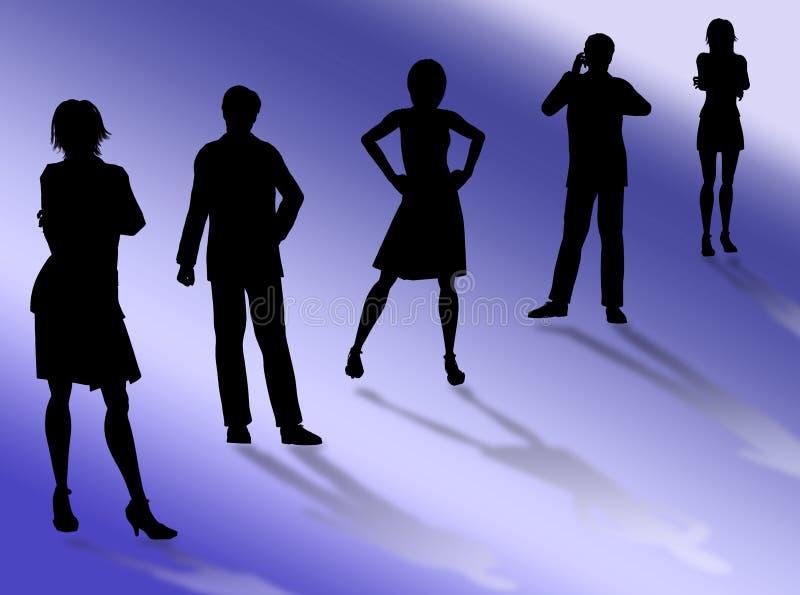 Commercieel team royalty-vrije illustratie