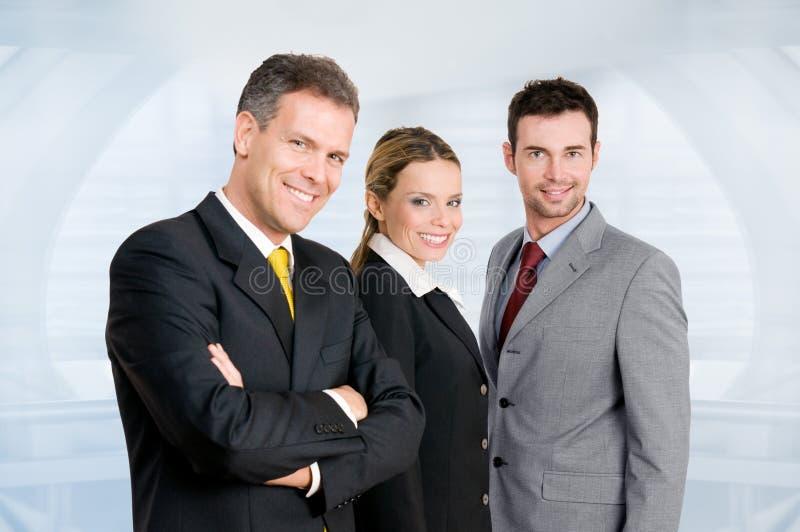 Commercieel team in bureau royalty-vrije stock fotografie
