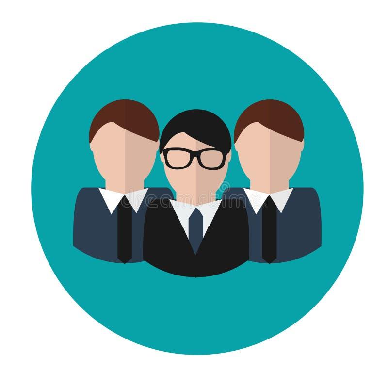 Commercieel team Concepten vectorpictogram Groep met leider royalty-vrije illustratie