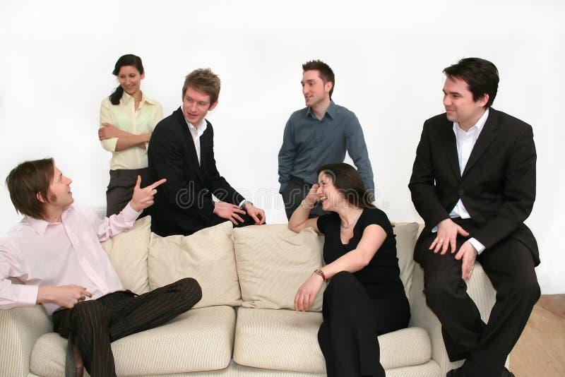 Commercieel Team dat - het Punt maakt stock foto