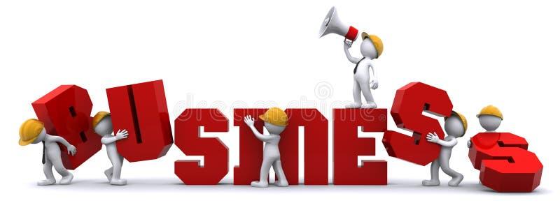 Commercieel team dat zaken bouwt. vector illustratie