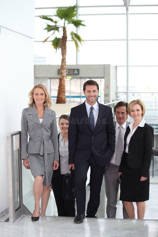 Commercieel team in luchthaven royalty-vrije stock foto