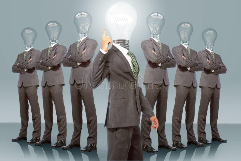 Commercieel Team met Idee stock illustratie
