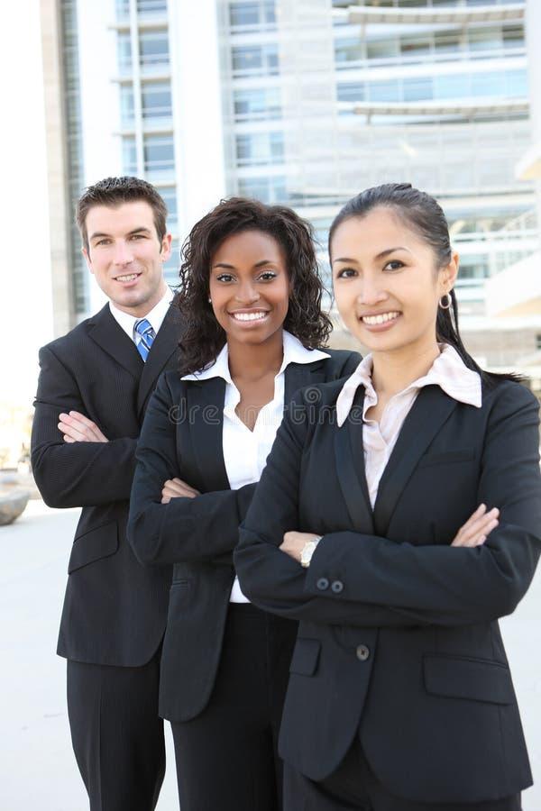 Commercieel Team (NADRUK OP MIDDENVROUW) stock foto