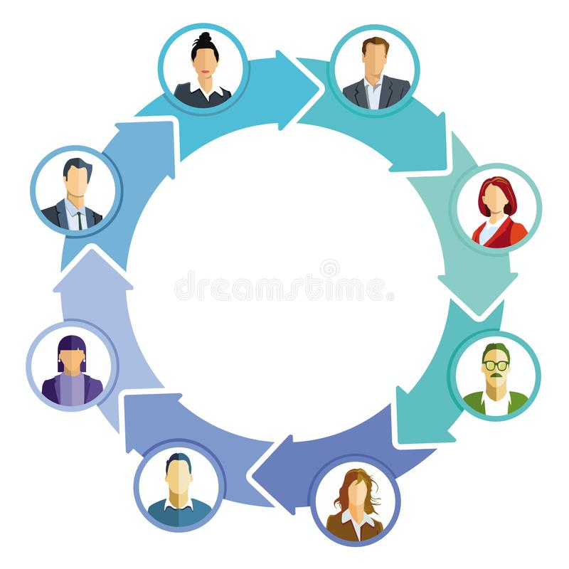 Commercieel team op een vergadering royalty-vrije stock afbeelding