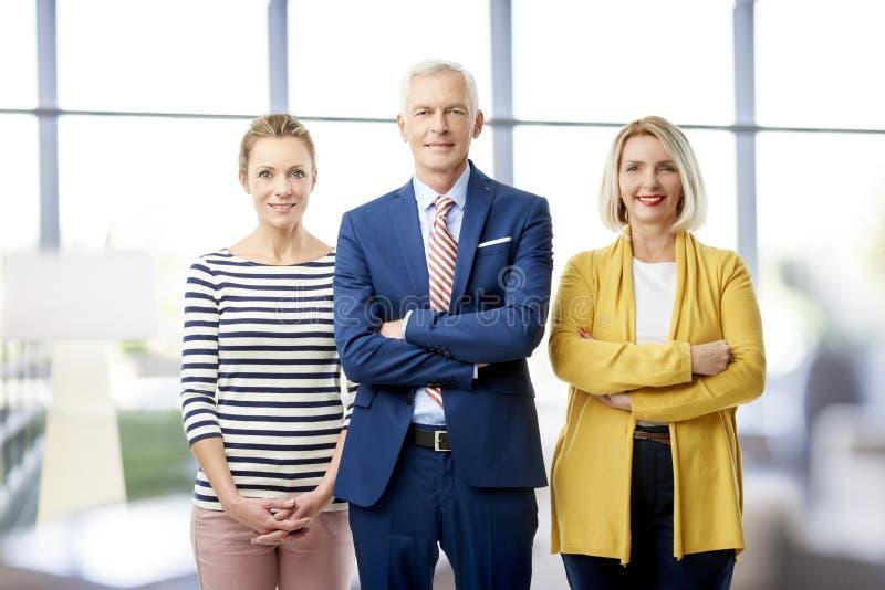 Commercieel team op het kantoor royalty-vrije stock afbeelding
