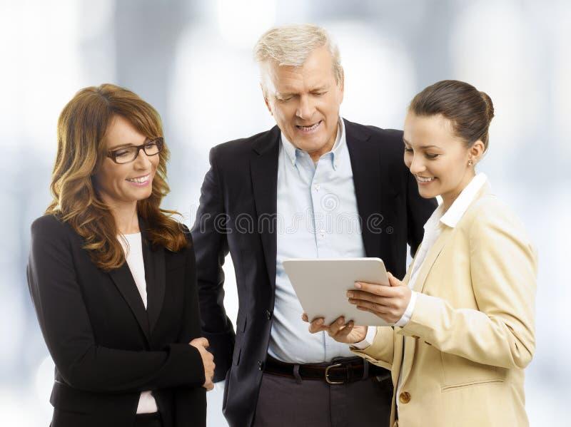 Commercieel Team op Kantoor stock afbeelding